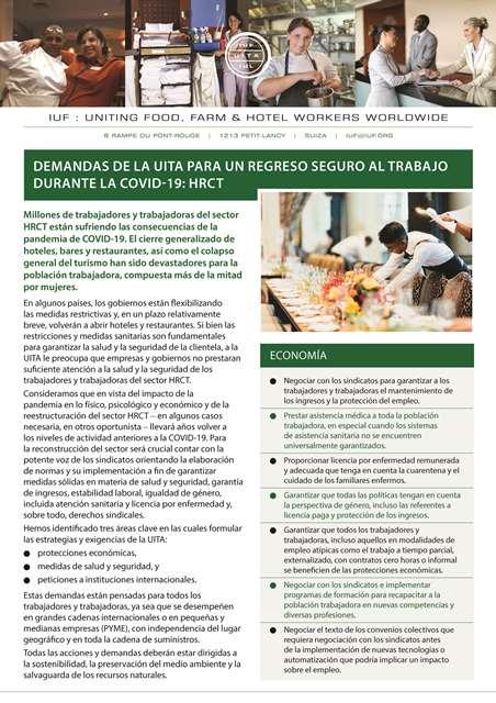 Demandas de la UITA para el sector HRCT
